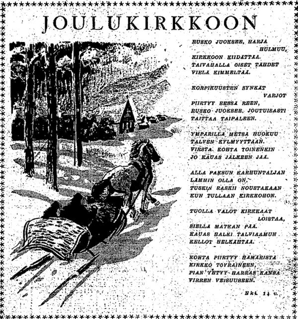Eki: Joulukirkkoon - HS 24.12.1940