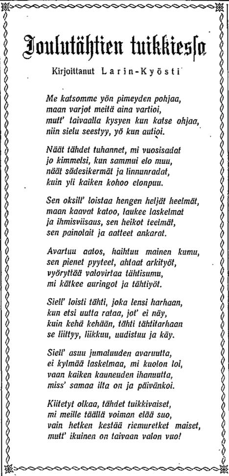 Larin-Kyösti - HS 24.12.1947