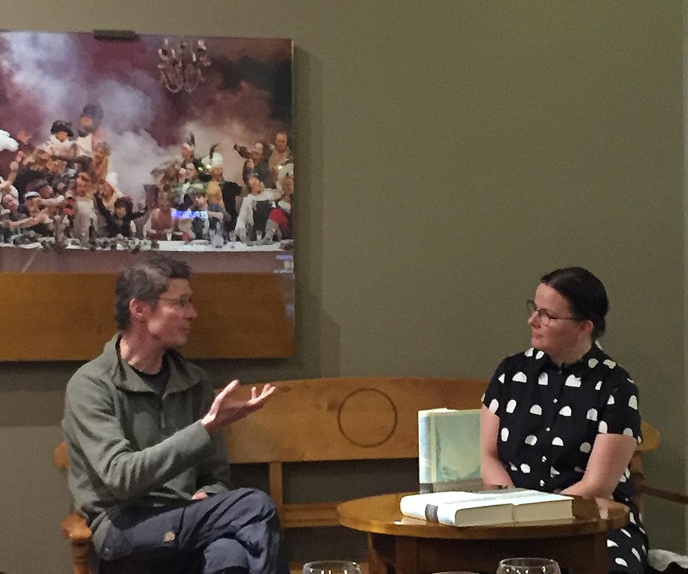 Juha Hurme ja Kirsi Helstelä Kansallisteatterin Bloggariklubilla 15.1.2018