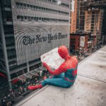 person in spiderman costume